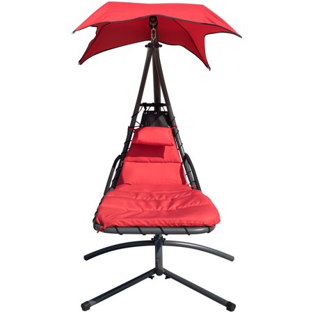 Finether Hanging Chaise Lounge Chair Outdoor Indoor Hammock Chair