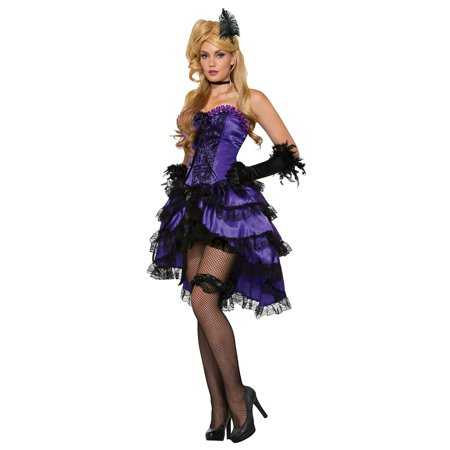 Saloon Girl Costumes Plus Size (Saloon Girl Adult Costume Purple -)