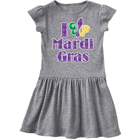I Love Mardi Gras Toddler Dress - Mardi Gras Dress Ideas