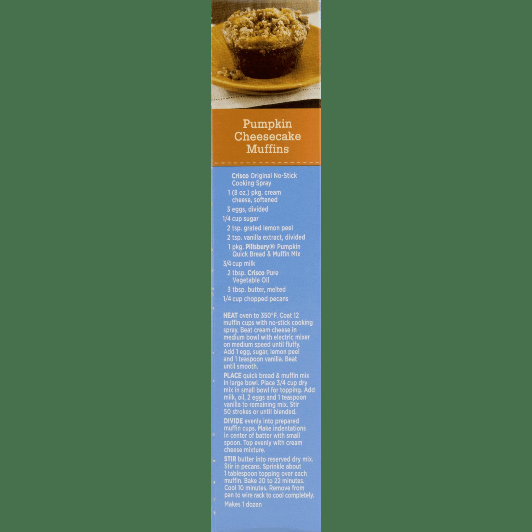 6 Pack Pillsbury Pumpkin Quick Bread Muffin Mix 14 Oz Walmart Com Walmart Com
