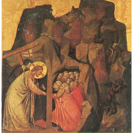 Framed Art for Your Wall Giotto di Bondone - Christ in Limbo 10 x 13 Frame](Limbo Theme)
