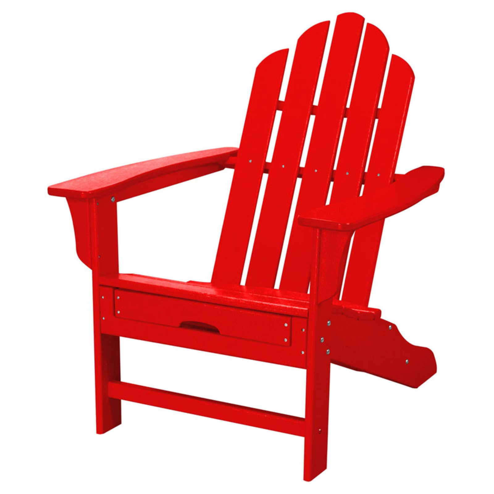 Hanover Outdoor Furniture All-Weather Contoured Adirondack Chair with Hideaway Ottoman