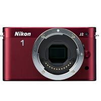 Nikon 1 J2 10.1 MP HD Digital Camera (Red) Body Only