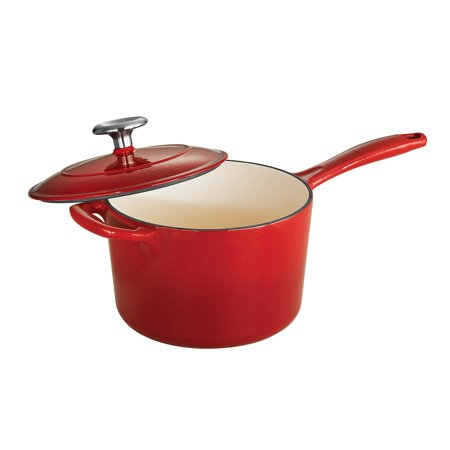 Tramontina Gourmet Enameled Cast Iron 2.5 qt. Covered Sauce Pan - Gradated Red