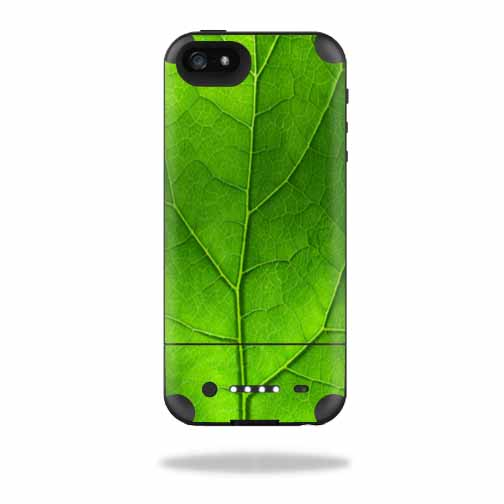 Mightyskins Protective Vinyl Skin Decal Cover for Mophie Juice Pack Air iPhone SE/5s/5 Apple iPhone SE/5s/5 Battery Case wrap sticker skins Green Leaf