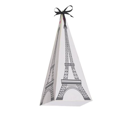 Access Party in Paris Favor Boxes Cone Shaped With Handle, 8 Ct - Party Decorations Paris