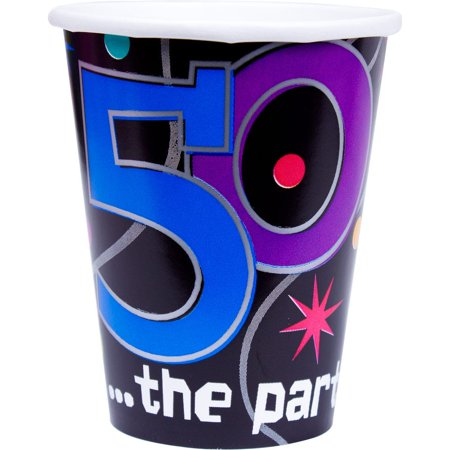 Amscan BB589797 The Party Continues 50Th Birthday 9Oz Cups](50th Birthday Invitations For Her)