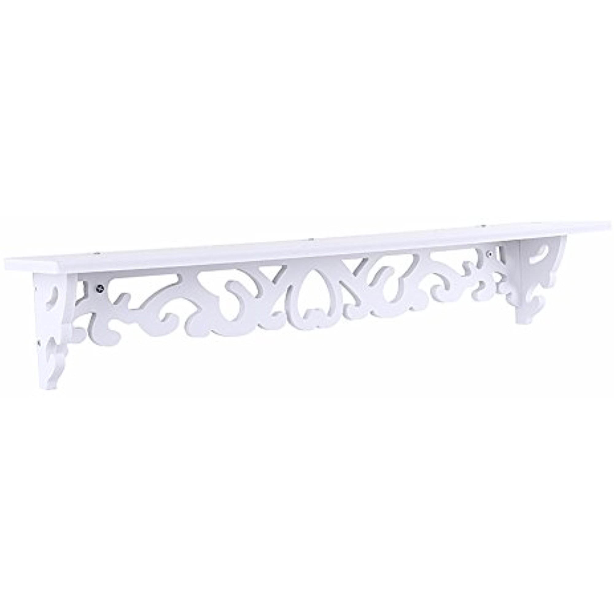 Floating Wall Shelveswhite Wood Carved Decorative Wall Mounted