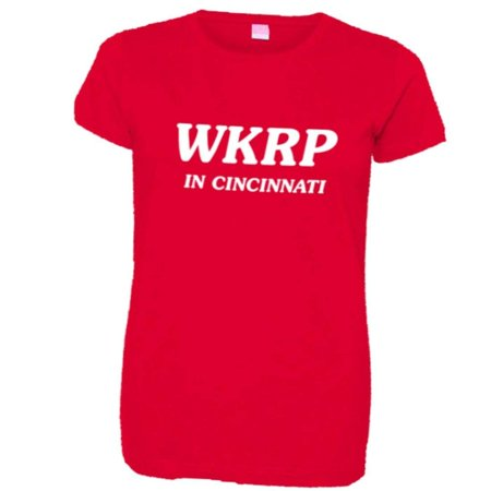 PleaseMeTees™ Womens WKRP In Cincinnati Johnny Fever HQ Tee - Kelly In Spandex