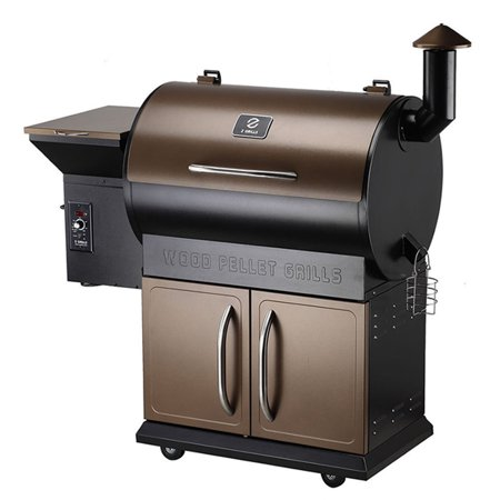 Z GRILLS 700D Wood Pellet Grill and Smoker with Auto Temp Control, Storage Cabinet and Free Patio Cover