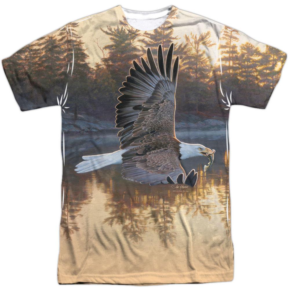 Wild Wings Men's  Gone Fishing  Sublimation T-shirt White