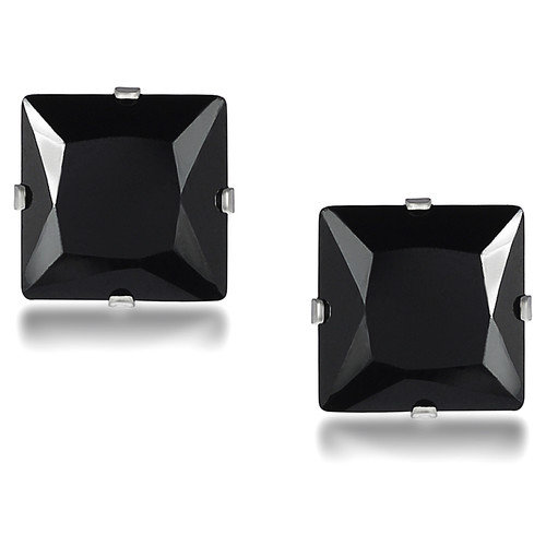 Tressa Collection Princess Cut 4mm Cubic Zirconia Stud Earrings