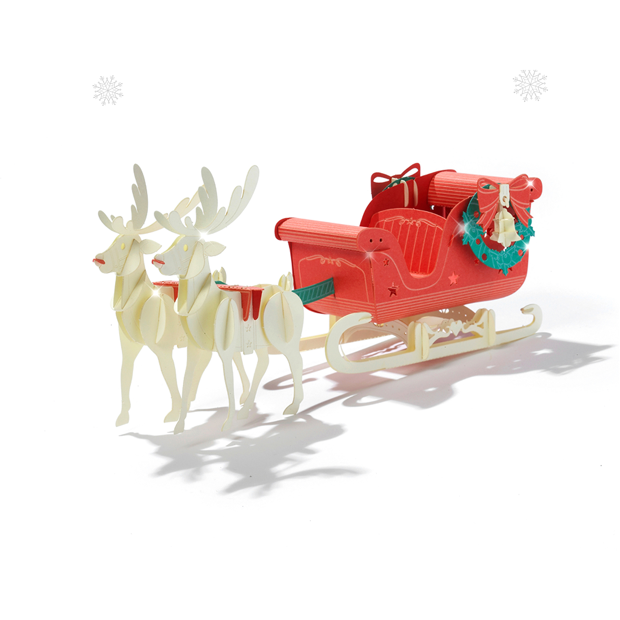 Papero Rudolph Sled Assemblage Kit, Red