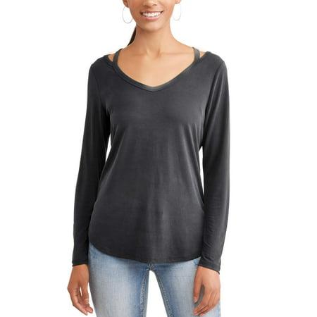 Adapter Womens Long Sleeve - Women's Long Sleeve Elevated T-Shirt