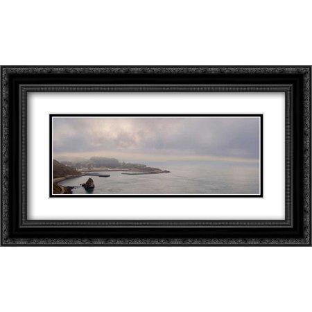 Golden Gate Bridge Pano - 130 2x Matted 24x14 Black Ornate Framed Art Print by Blaustein, Alan