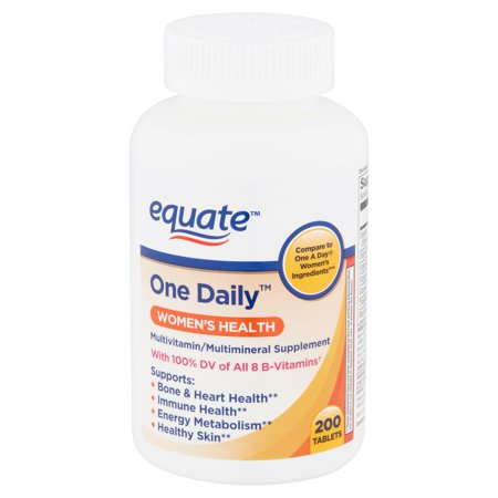 Adult Multi Vitamin - Equate One Daily Women's Health Tablets, 200 count