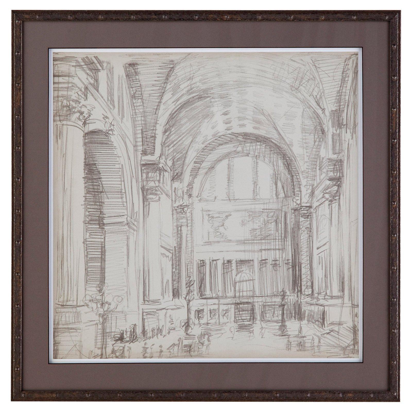 Bassett Mirror Interior Architectural Study IV Wall Art