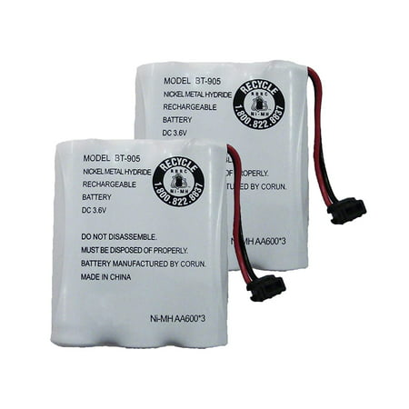 Replacement For Uniden BT-800 Cordless Phone Battery (600mAh, 3.6V, NiCD) - 2 Pack ()