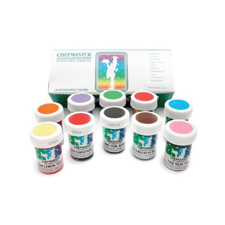 Chefmaster Food Coloring Kit: 1-Ounce , Pack Of 10 - Walmart.com