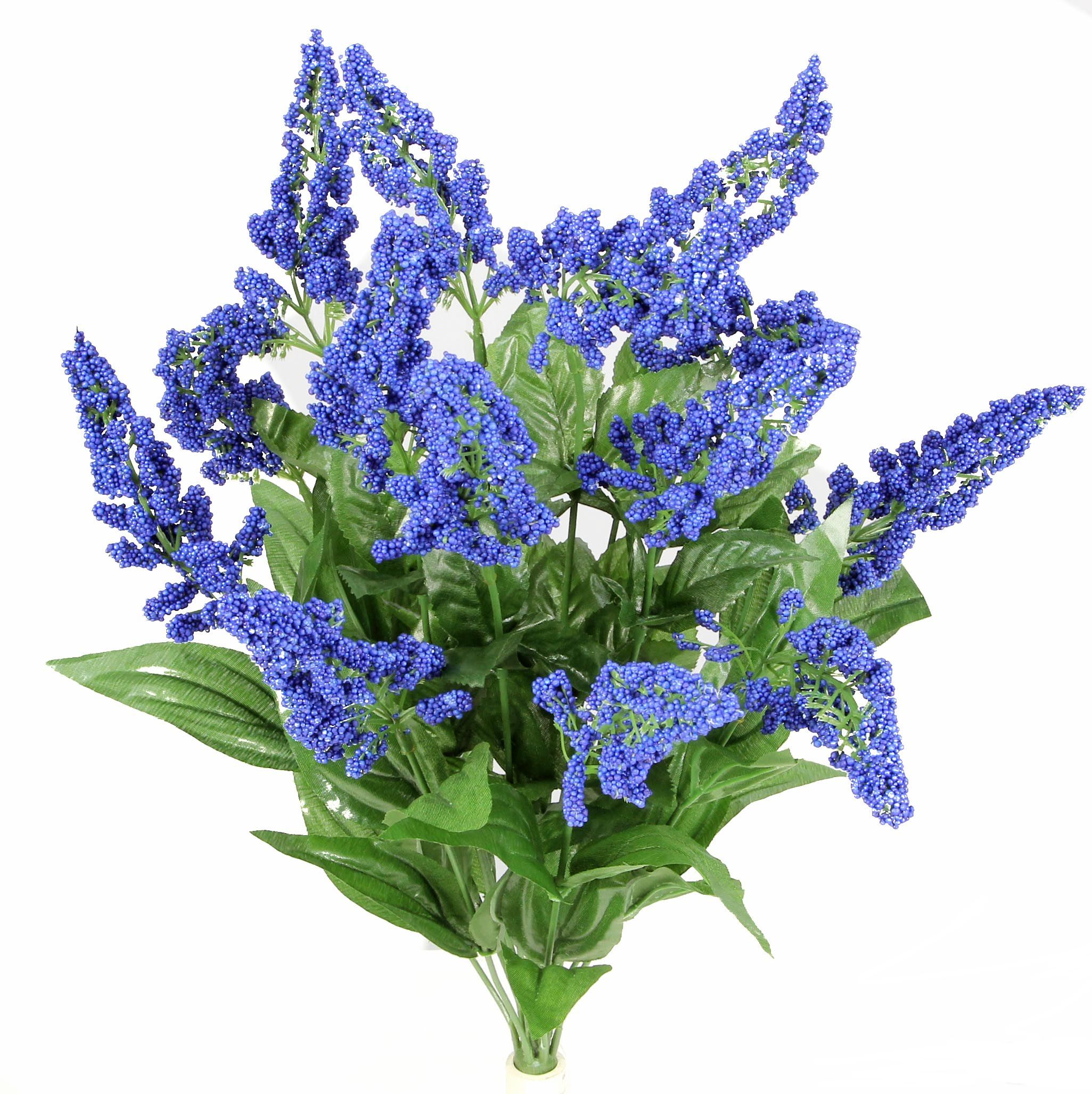 Admired By Nature 14 Stems Artificial Heather Fillers Bush, Blue