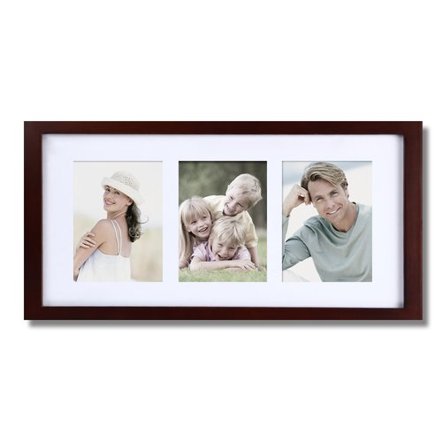 Adeco Trading 3 Opening Decorative Wall Hanging Picture Frame