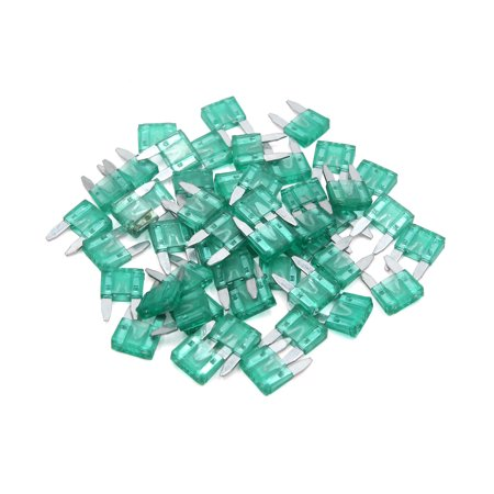50pcs Universal Plastic Mini Blare Style Fuse for Auto Motorcycle Car Green 30A - image 2 de 2