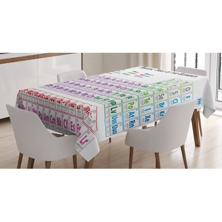 Science Tablecloth Chemistry Primary School Students Geek Nerd Lessons Cles Smart Kids Art Print Rectangular Table Cover For Dining Room Kitchen