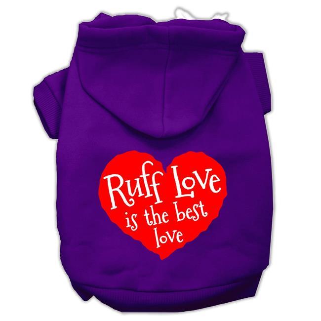 Ruff Love Screen Print Pet Hoodies Purple Size Med (12) - image 1 of 1