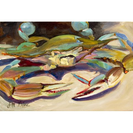 Blue Crab Tail Fin Fabric Placemat JMK1101PLMT