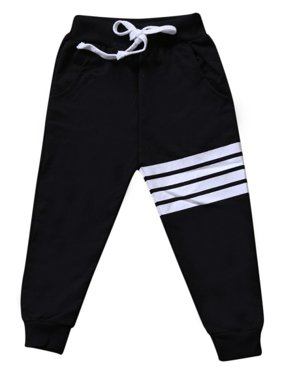Toddler Baby Boys Elastic Waist Striped Sweatpants Kids Jogger Sports Pants