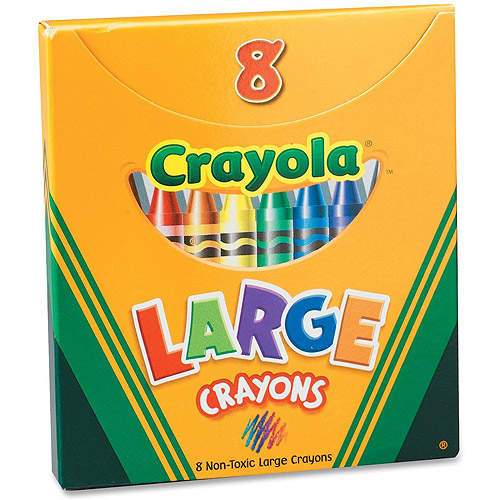 Crayola Large Crayons, Tuck Box, 8 Classic Colors
