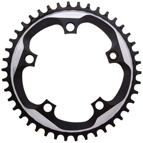 SRAM X-Sync Chainring 44 Teeth 110mm BCD Polished Grey/Matte Black Fits 10 and 11 Speed SRAM Chains