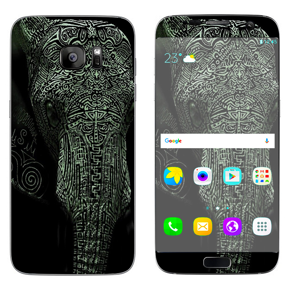 Skins Decals For Samsung Galaxy S7 Edge / Aztec Elephant Tribal Design
