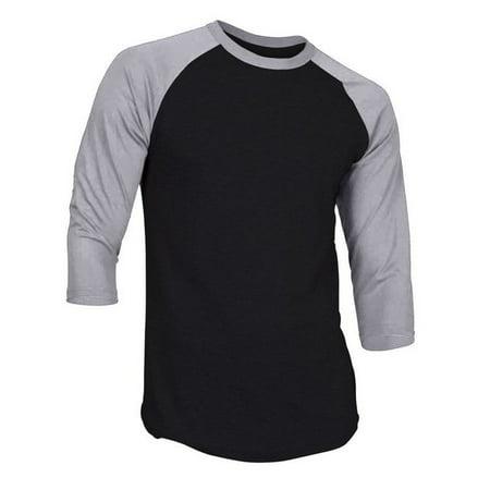 Hat and Beyond - RD Mens 3 4 Sleeve Raglan Baseball Jersey T Shirt 1RDB3401  - Walmart.com f33d5c0a5