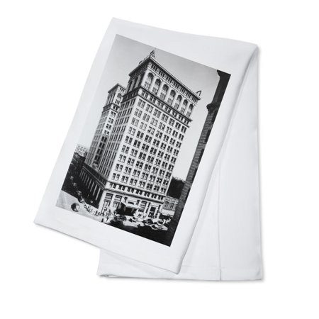 Spokane  Wa View Of Old National Bank Building Photograph  100  Cotton Kitchen Towel