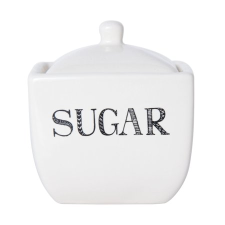 - Elements Classic Stoneware Sugar Bowl With Sentiment Decals