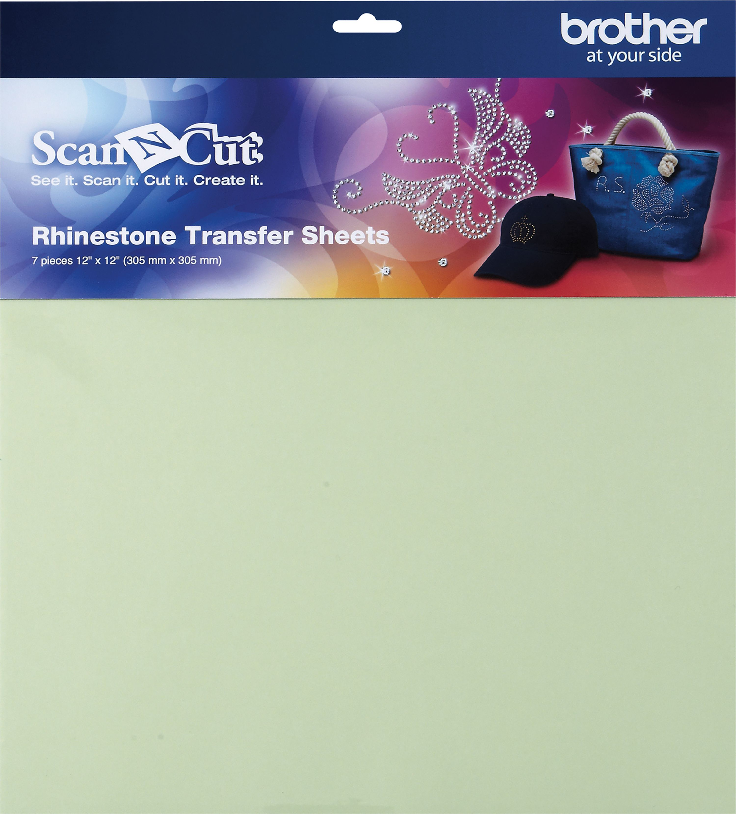 Brother ScanNCut Rhinestone Transfer Sheets 7/Pkg-