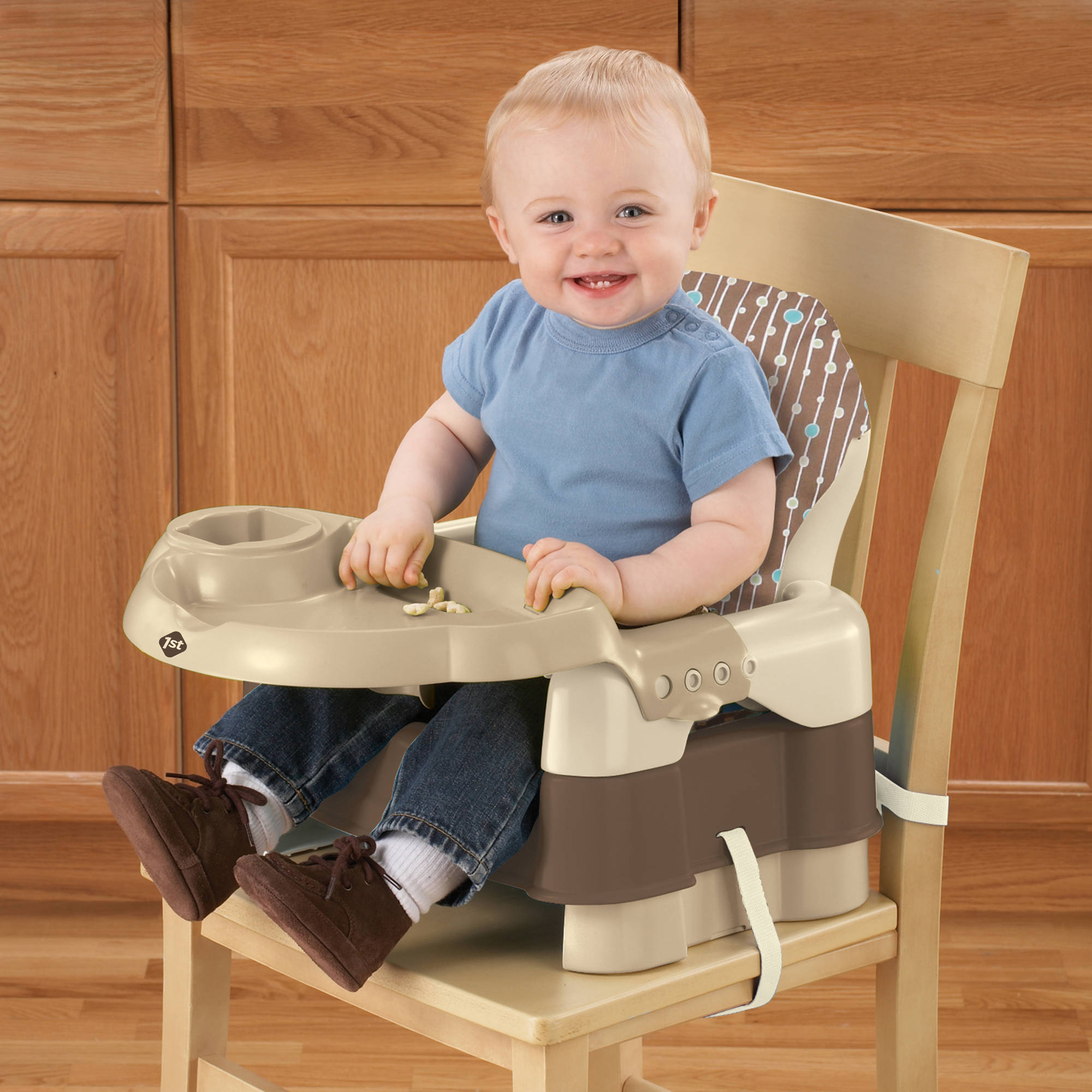 Safety 1st Deluxe Sit, Snack and Go Convertible Booster Seat, Alt. Decor with Full Pad