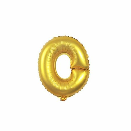 Gold Foil Balloon Number O Inflated Float Helium Balloon 16 inch Kids Fun Toys