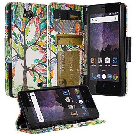 promo code 690e3 e8b73 ZTE Majesty Pro Case, ZTE Majesty Pro Plus Case, Wrist Strap Slim Flip  Folio [Kickstand] Pu Leather Wallet Case Cover with ID & Card Slots & Wrist  ...