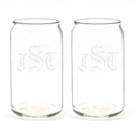 HBH Wedding Custom Glass Can Set - (Custom Party Glasses)