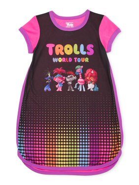 Trolls Girls Exclusive 4-12 Short Sleeve Pajama Nightgown