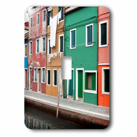 3dRose Houses on the waterfront, Burano, Venice, Veneto, Italy., 2 ...
