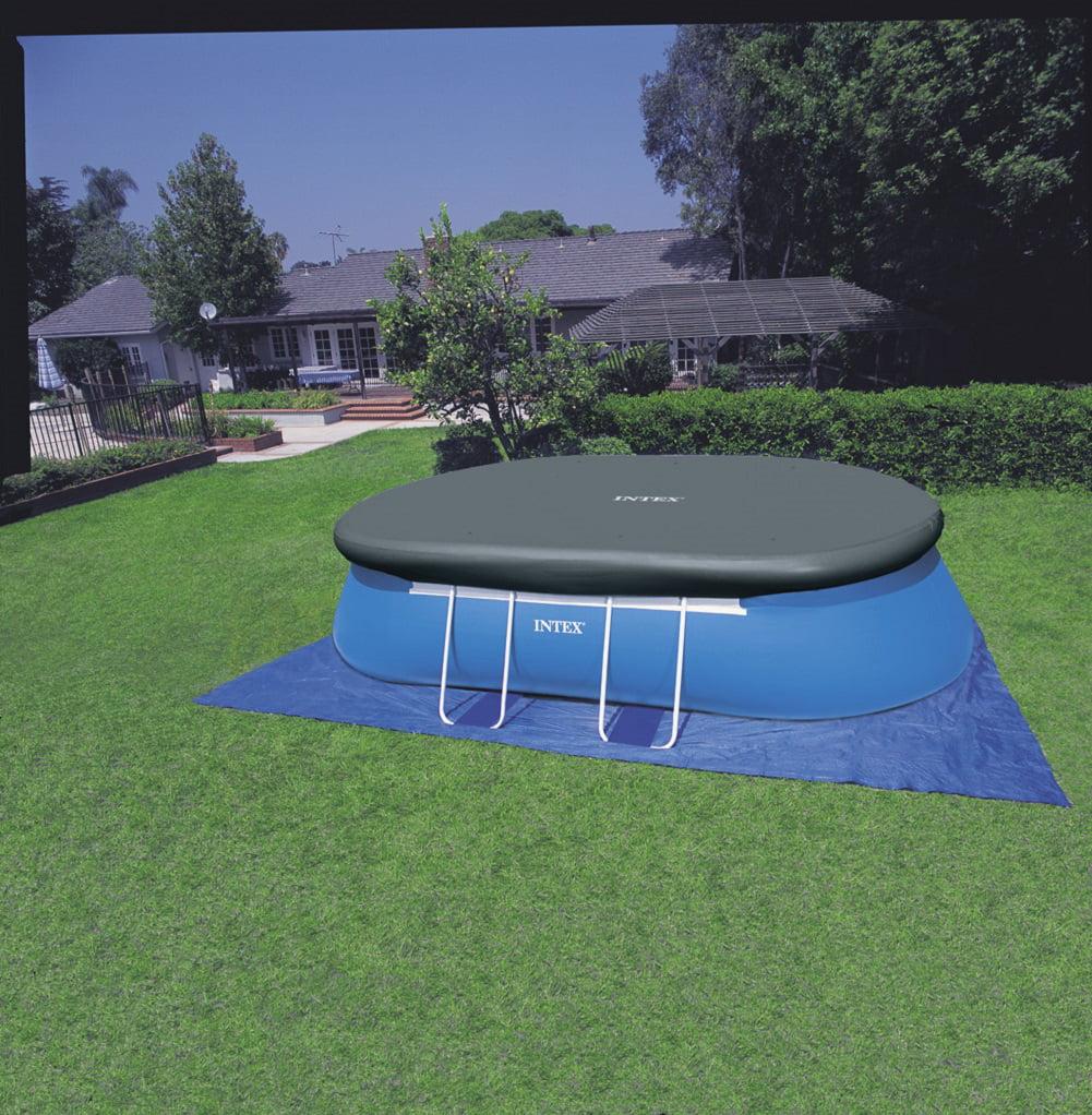 Intex 18ft X 10ft X 42in Oval Frame Pool Set - Walmart.com