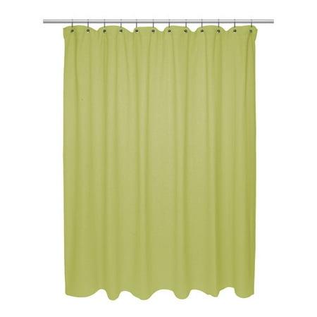 Standard Size 100 Cotton Chevron Weave Shower Curtain Citron