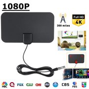 HD Digital TV Antenna Kit, 300 Miles Long Range High-Definition for Indoor - 16ft Coax Cable - 1080p 4k Ready