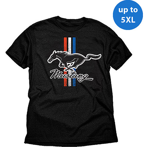 Ford Mustang classic stripes Big Men's graphic tee shirt