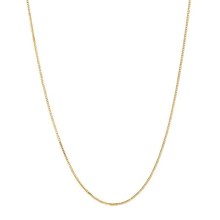 14k Solid Gold Yellow Box Chain Necklace 0.6 mm 13 Inches