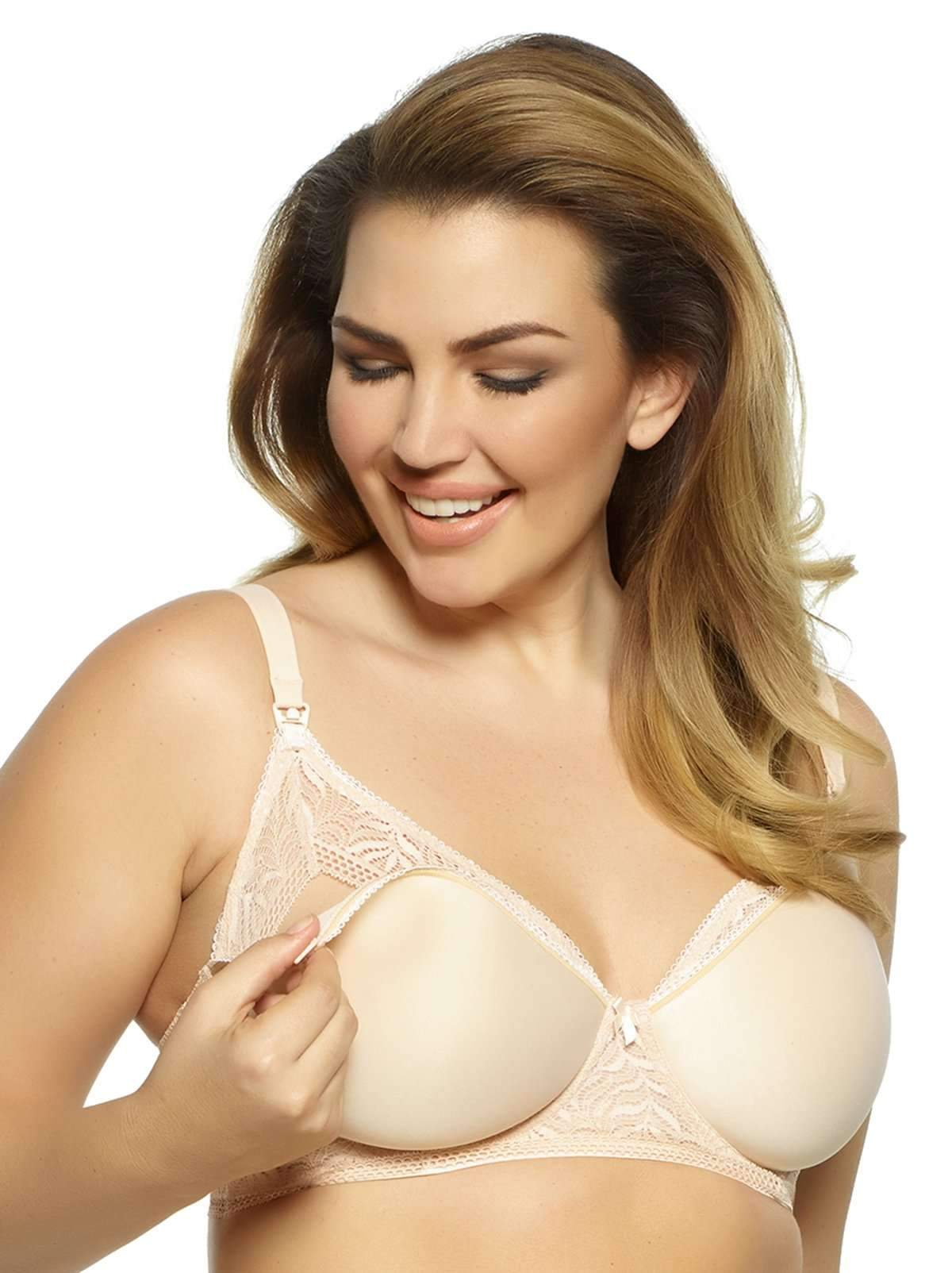 Paramour by Felina Women's Carol Space Pad and Lace Nursing Mom Bra 3-Colors