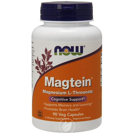 Now Foods, Magtein, Cognitive Support, 90 Veggie Caps , Pack of 2